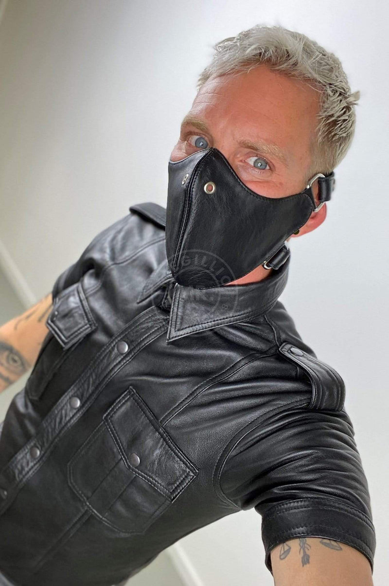 Mister B Leather Bike Mask Blindfolds & Masks Mister B