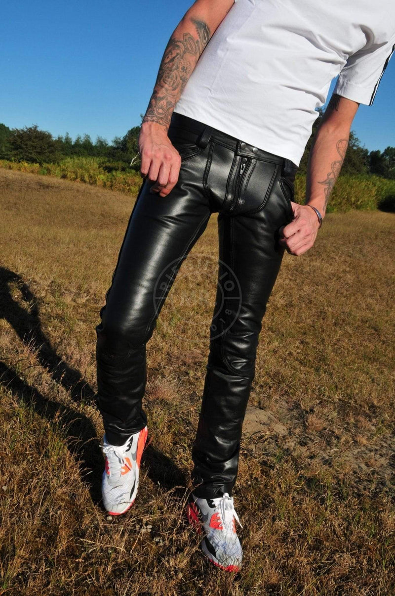 Mister B Leather FXXXer Jeans All Black by Mr Riegillio