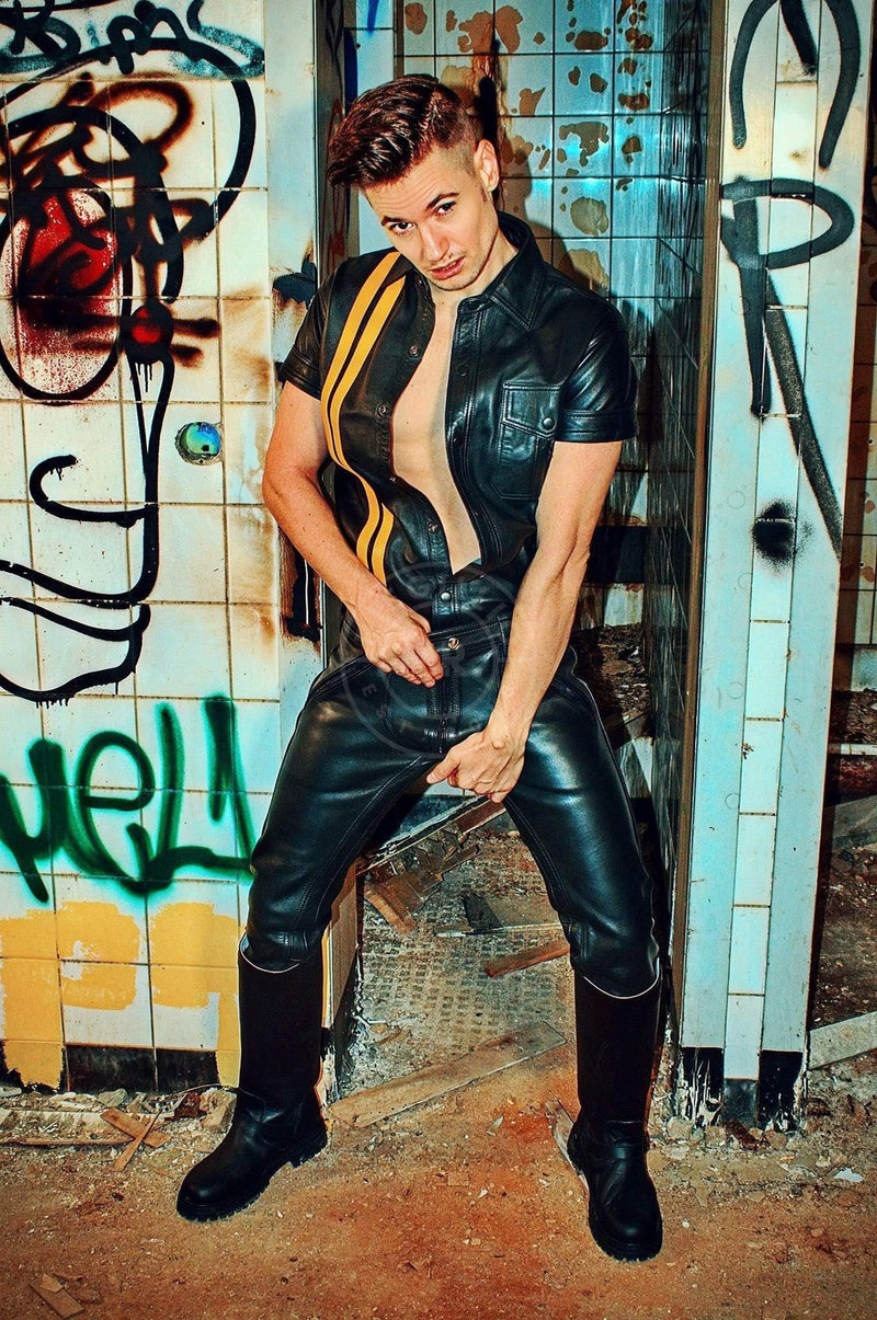 Mister B Leather FXXXer Jeans All Black Pants Mister B