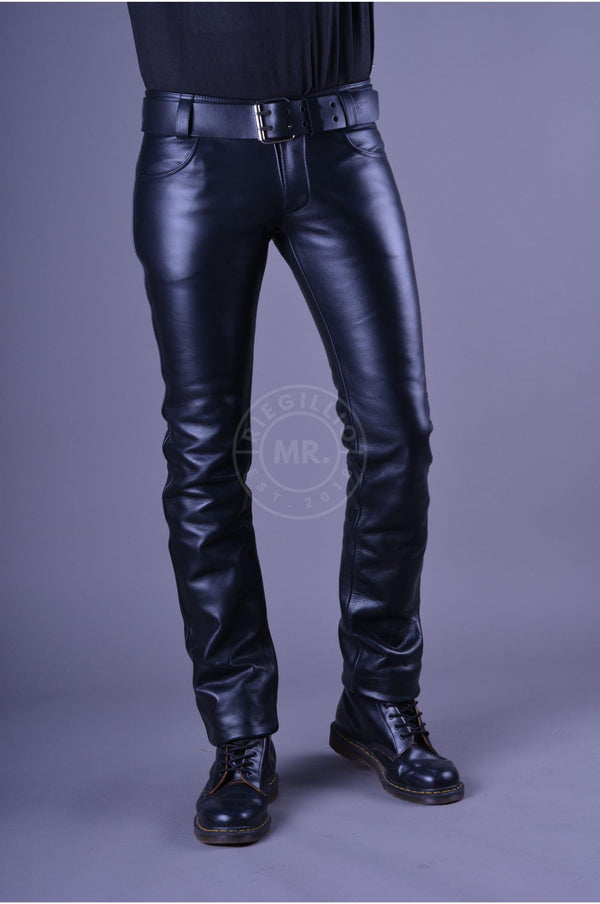 Mister B Leather Jeans Zip Pants Mister B