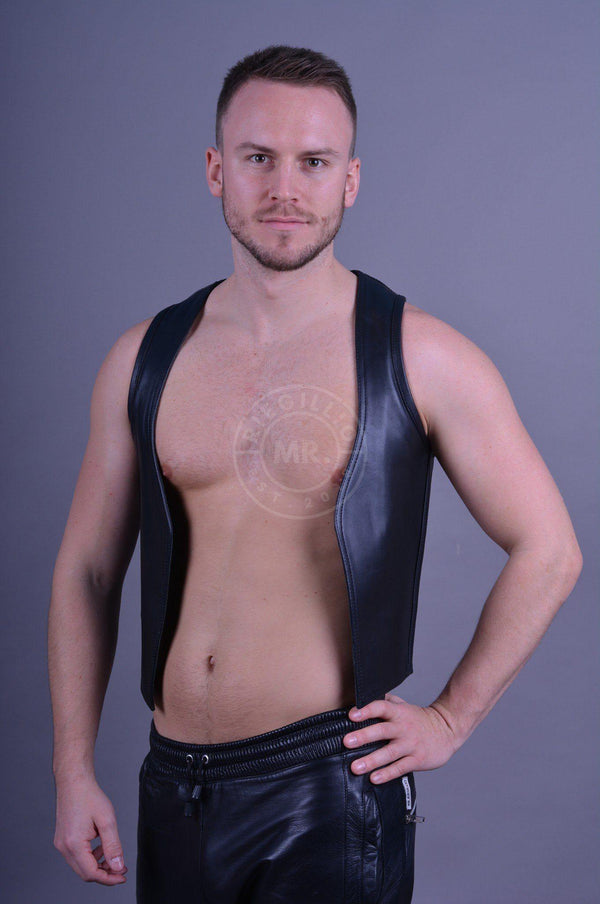 Mister B Leather Muscle Vest Vest Mister B