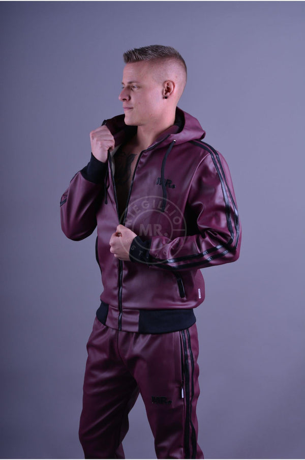 MR. Tracksuit Jacket Burgundy Jacket Mr Riegillio