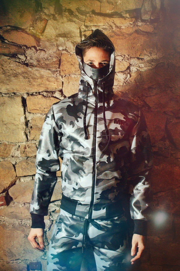 MR. Tracksuit Jacket Camo Full Zip Jacket Mr Riegillio