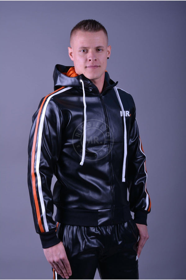 MR. Tracksuit jacket orange stripes Jacket Mr Riegillio