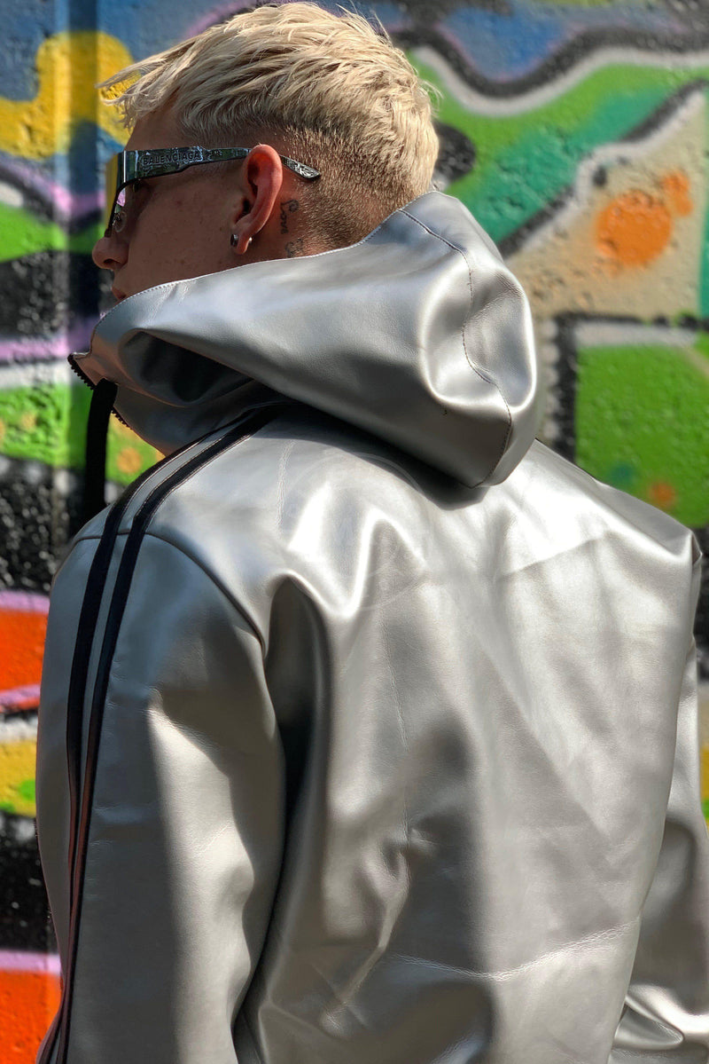 MR. Tracksuit Jacket Silver Jacket Mr Riegillio