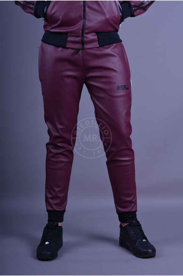 MR. Tracksuit Pants Burgundy Pants Mr Riegillio