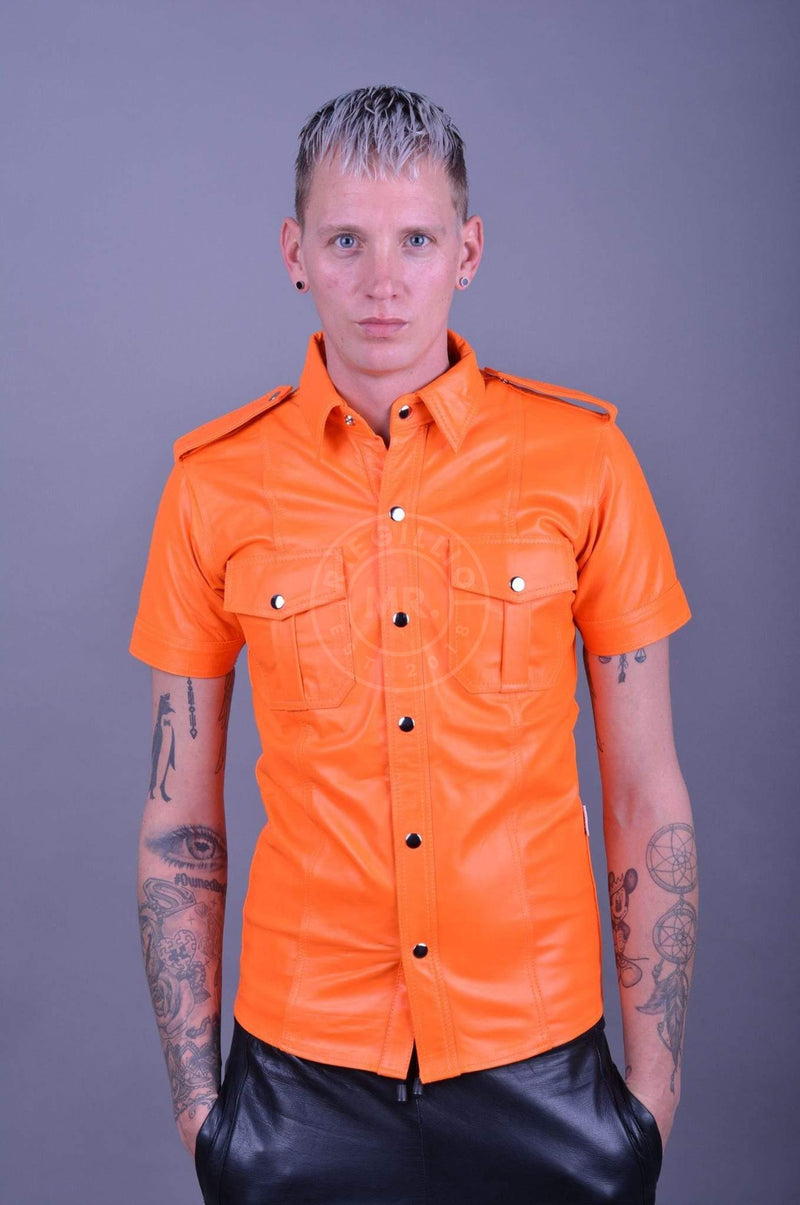 Neon Leather Shirt leather shirt Mr Riegillio