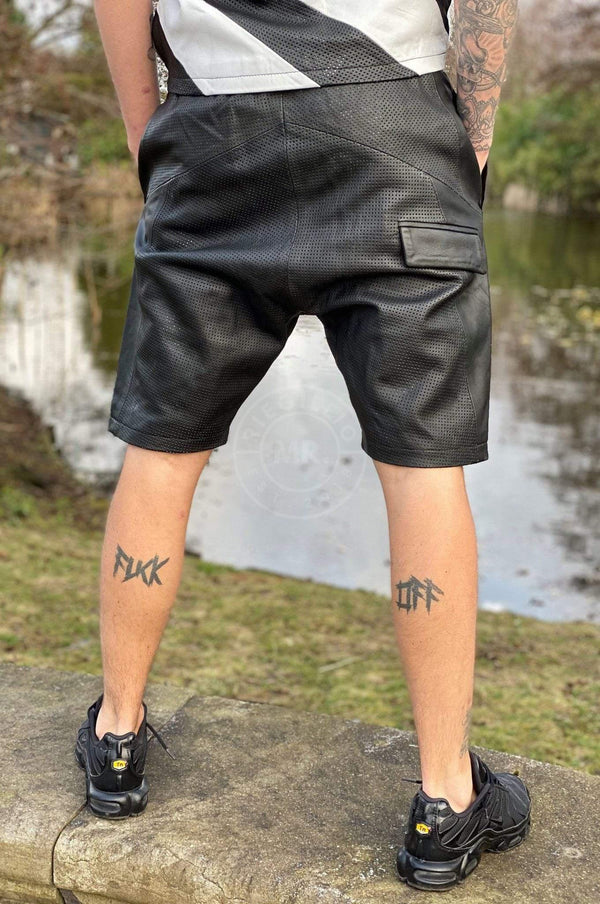Perforated Leather Baggy Short Shorts Mr Riegillio