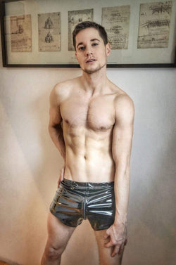 PVC mini short Shorts Mr Riegillio