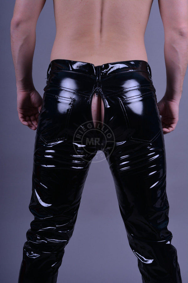 PVC pants thru zip Pants Mr Riegillio