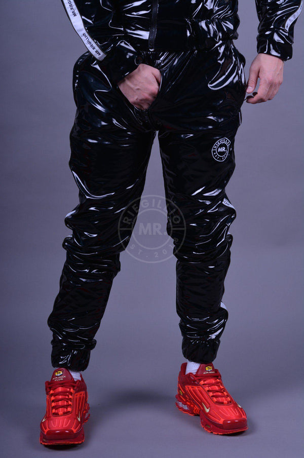 PVC Tracksuit Thru Zip Pants LogoTaping Pants Mr Riegillio