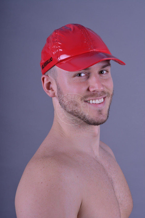 Red PVC Cap Cap Mr Riegillio