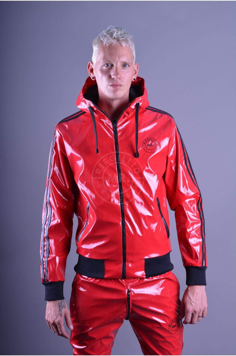 Red PVC Tracksuit Jacket Jacket Mr Riegillio