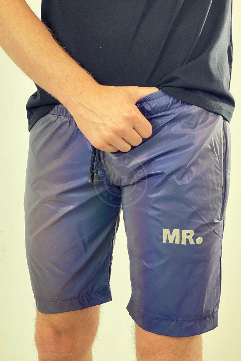 Reflective Long Short Blue Shorts Mr Riegillio