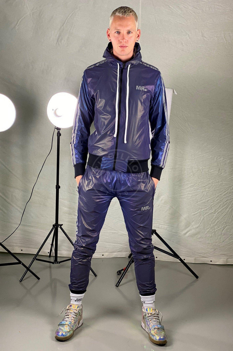 Reflective Tracksuit Jacket Blue Jacket Mr Riegillio