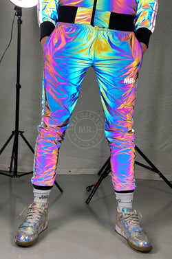 Reflective Tracksuit Pants Blue Pants Mr Riegillio