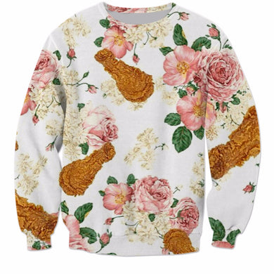 Crispy Chicken and Flowers Sweatshirt