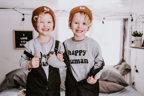 HAPPY HUMAN ( gray ) Toddler Sweatshirt