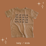 FA LA LA LA  -   Toddler & Youth Tee ( hand-dyed )