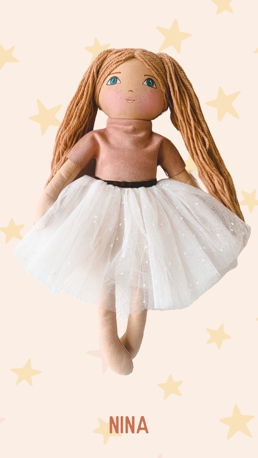 NINA - Handmade Heirloom Doll