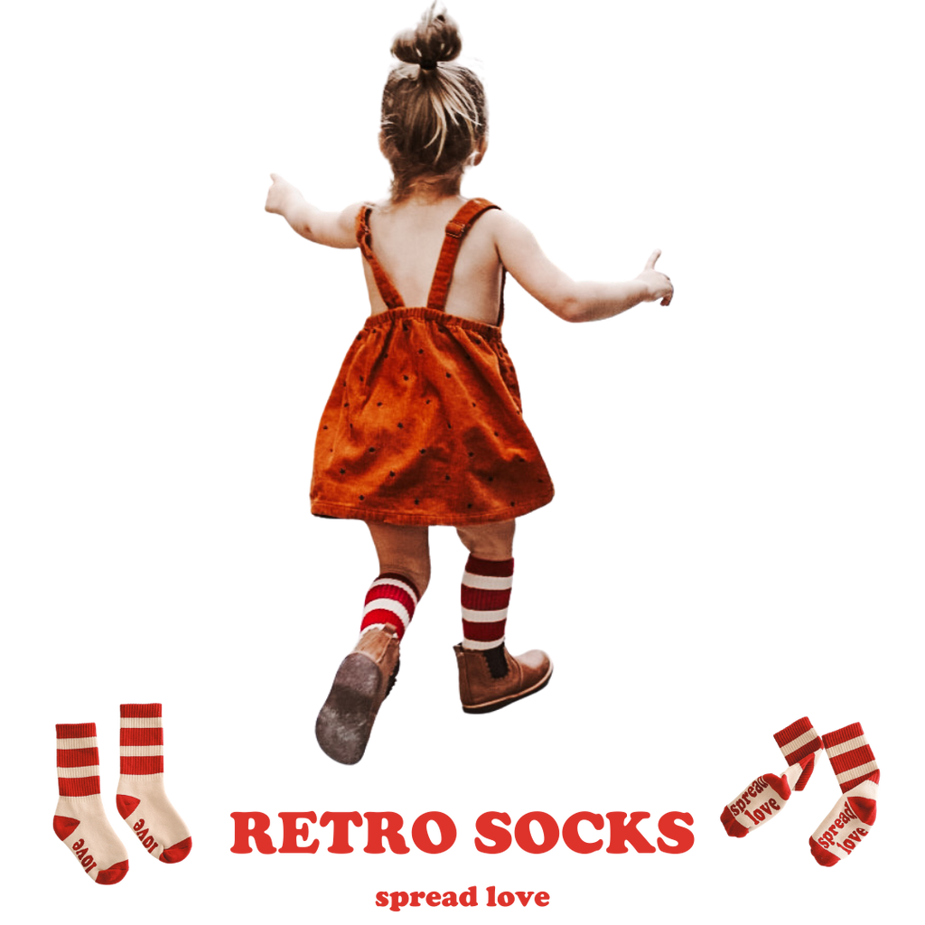 SPREAD LOVE RETRO SOCKS -  Toddler & Youth
