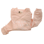 STRONG LIKE A GIRL - Adult Terry Cotton Sweatshirt