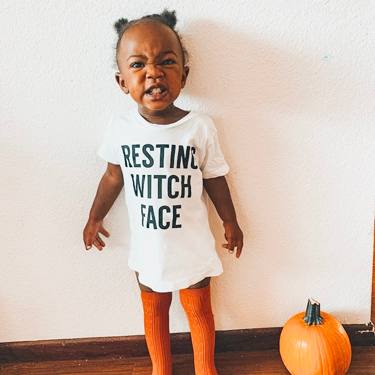 RESTING WITCH FACE -  Toddler Tee