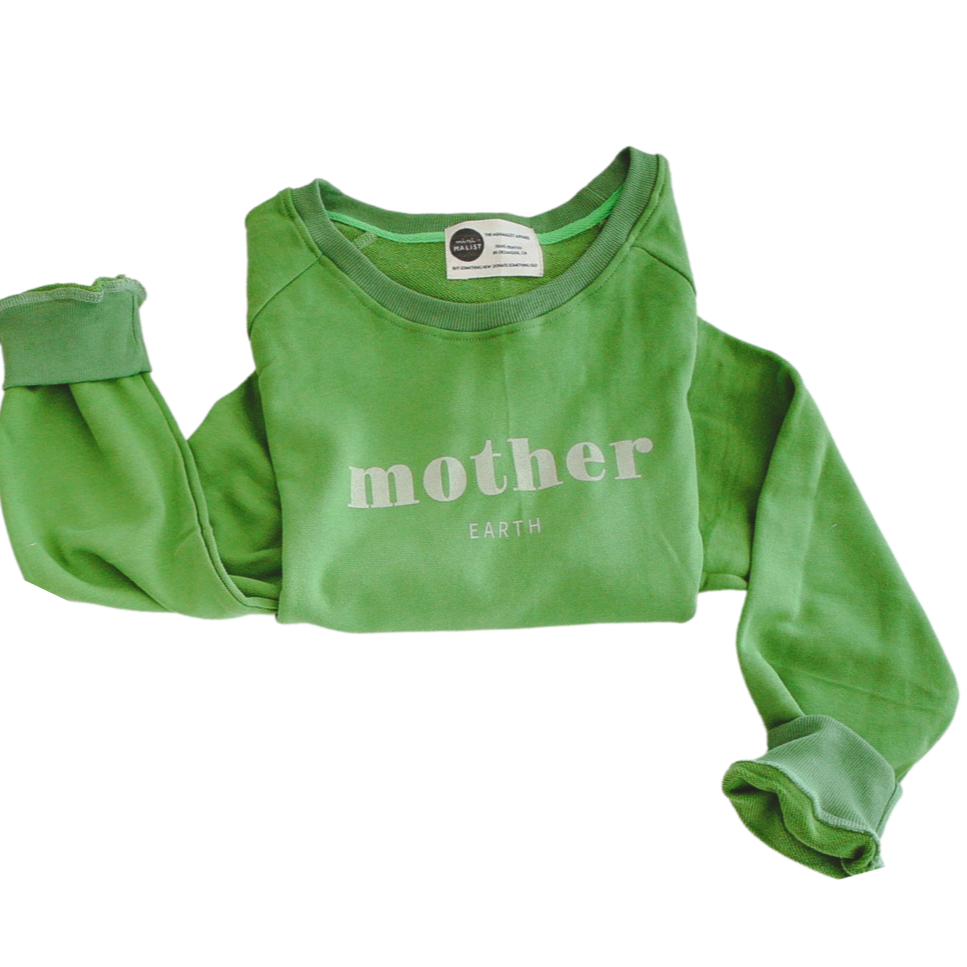 MOTHER EARTH - Adult Terry Cotton Sweatshirt
