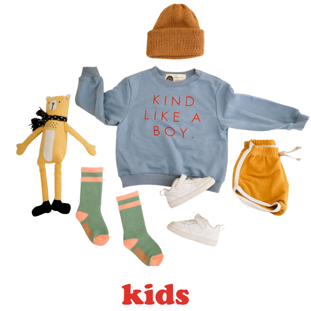 KIND LIKE A BOY - Infant, Toddler & Youth  Terry Cotton Sweatshirt