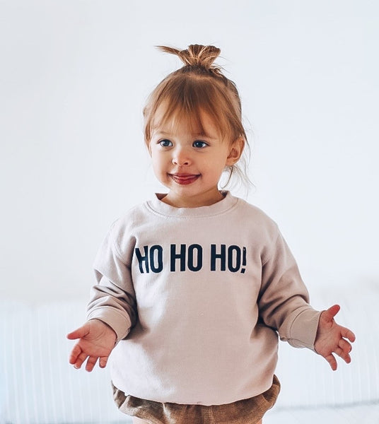 HO HO HO! ( HAND DYED) Infant/Toddler Sweatshirt