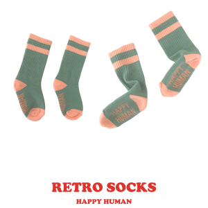 HAPPY HUMAN RETRO SOCKS -  Toddler & Youth