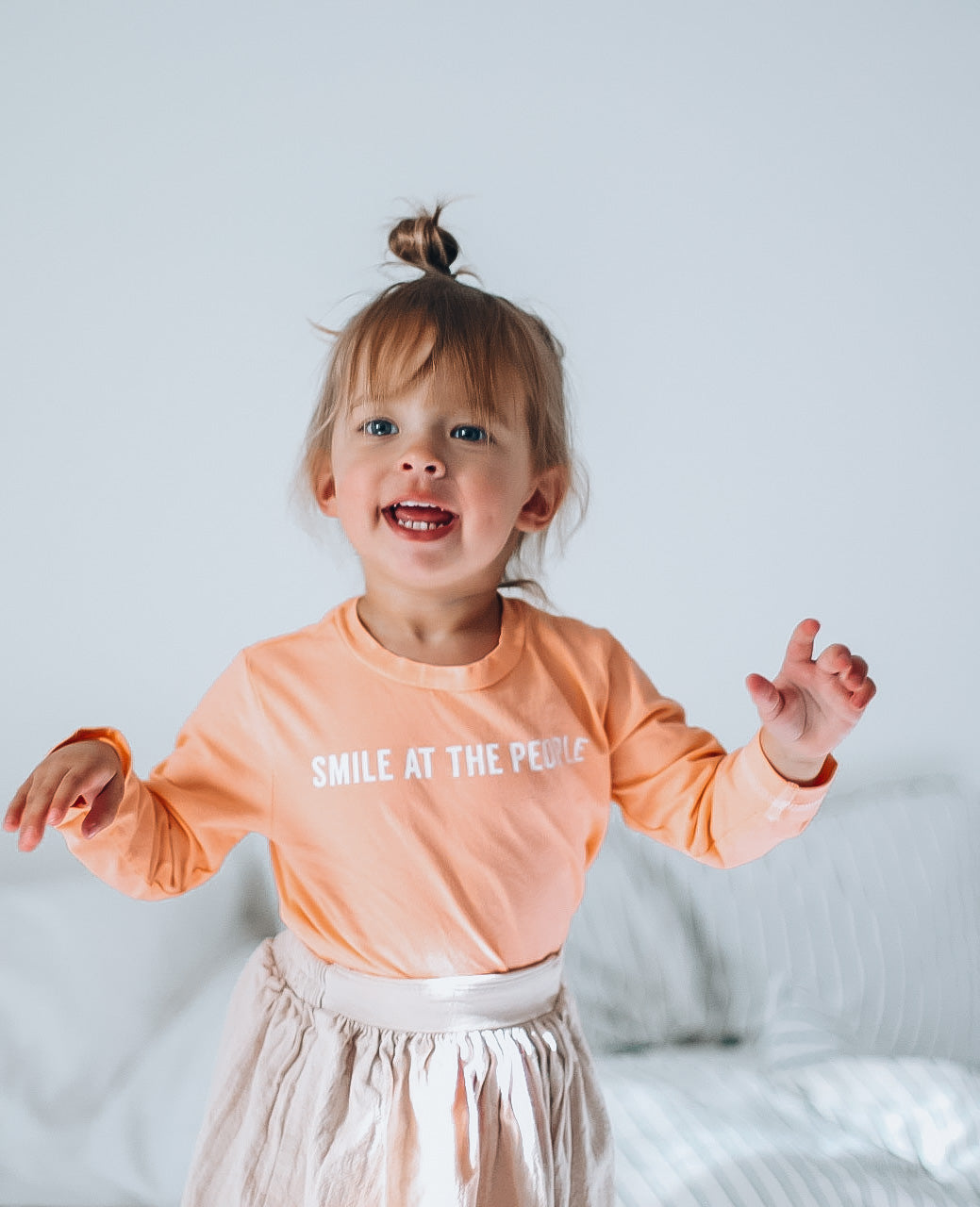 SMILE AT THE PEOPLE - Long Sleeve Toddler Tee