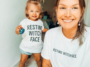 RESTING WITCH FACE - Adult Crewneck Tee
