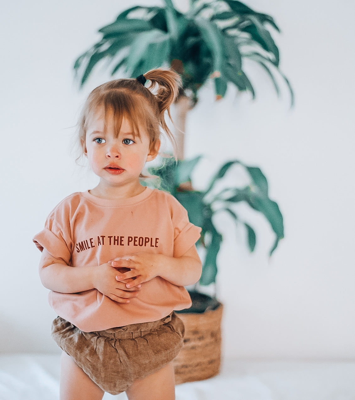 SMILE AT THE PEOPLE - Short Sleeve Toddler Tee