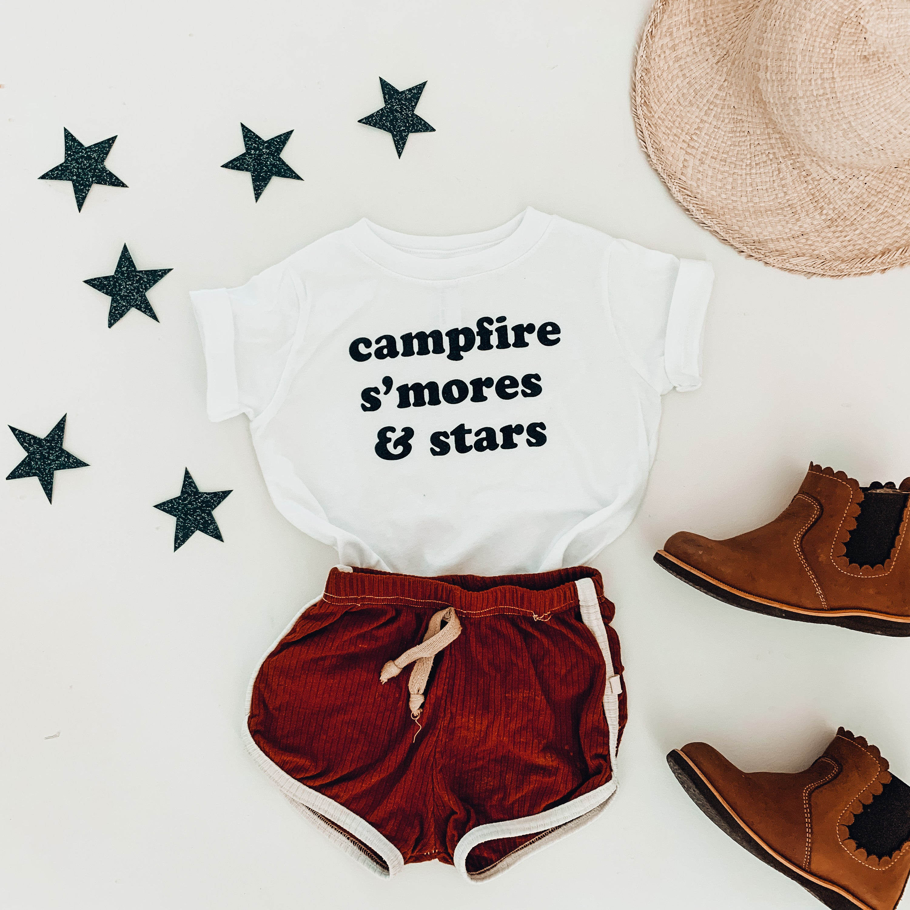 CAMPFIRE S'MORES & STARS  - Onesie & Toddler & Youth Tee
