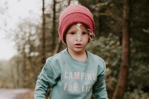 CAMPING FOR LIFE ( HAND DYED) Sweatshirt