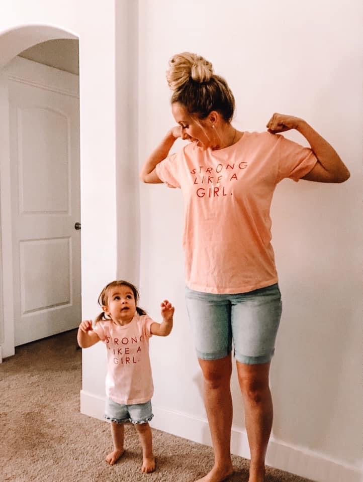 STRONG LIKE A GIRL - Women's Relaxed Flowy Fit ( hand dyed )