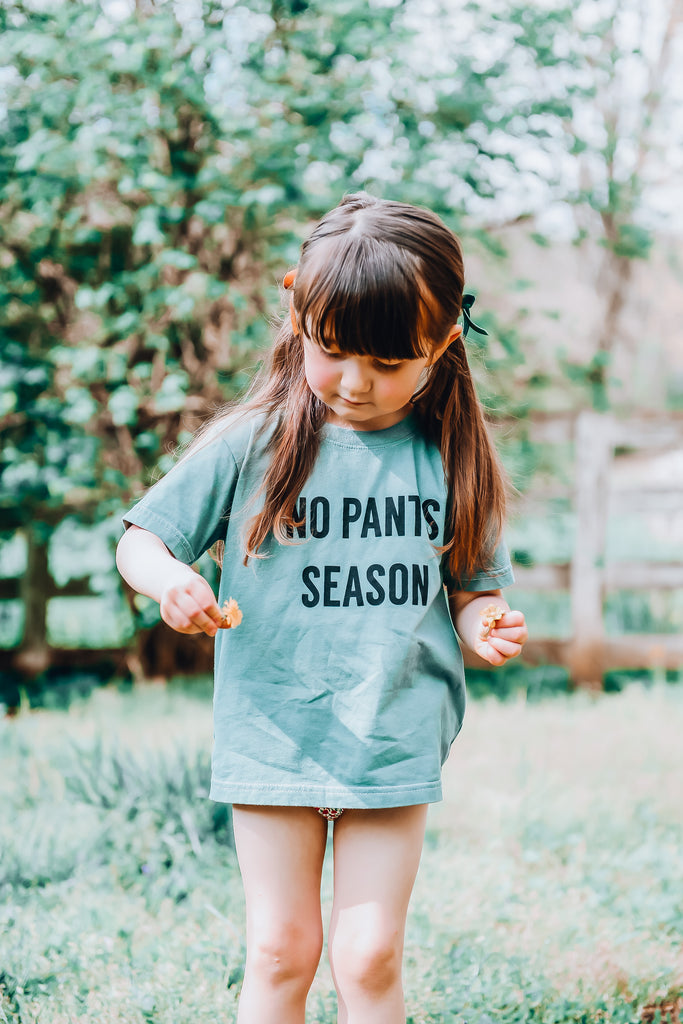 NO PANTS SEASON - Infant  | Toddler | Youth  ( SAGE ) * READY TO SHIP *