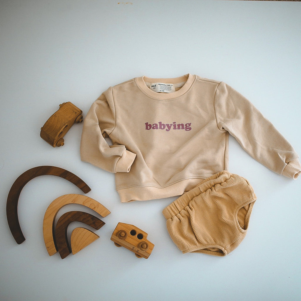 BABYING - Infant, Toddler & Youth  Terry Cotton Pullover  * READY TO SHIP *