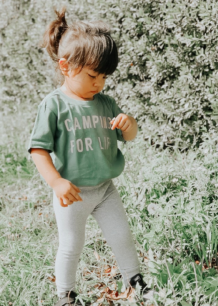 CAMPING FOR LIFE (HAND DYED) - Onesie & Toddler tee