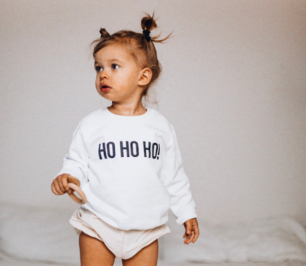 HO HO HO! ( white ) Infant/Toddler Sweatshirt