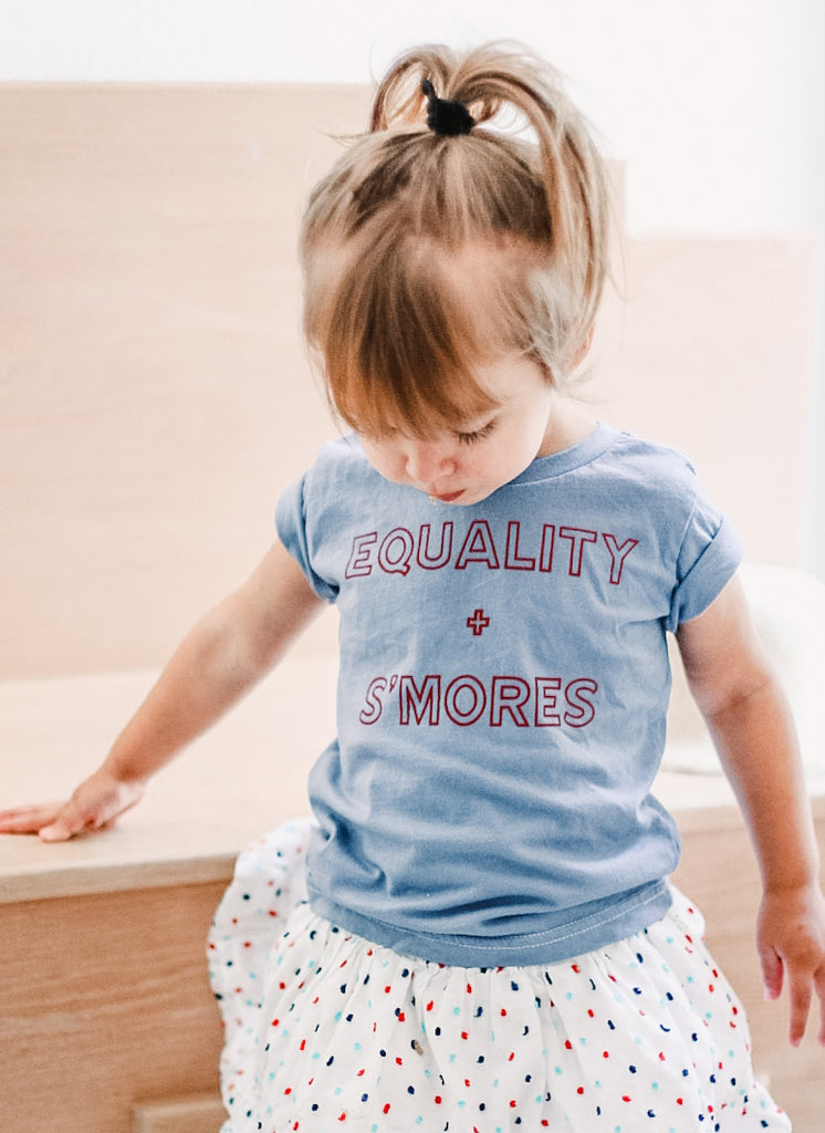 EQUALITY + S'MORES  - Infant | Toddler | Youth ( HAND DYED ) * READY TO SHIP *
