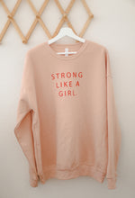 STRONG LIKE A GIRL (PEACH) - Adult Sweatshirt