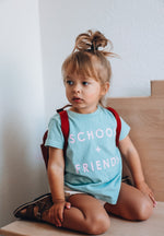 SCHOOL + FRIENDS -  Toddler & Youth  T-Shirt ( PINK DESIGN ) * READY TO SHIP*