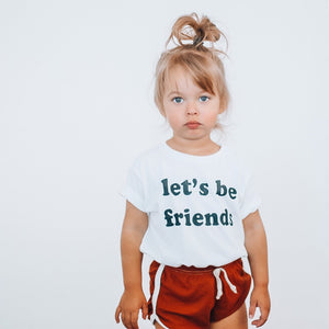 LET'S BE FRIENDS -  Toddler & Youth  T-Shirt ( BLACK DESIGN )