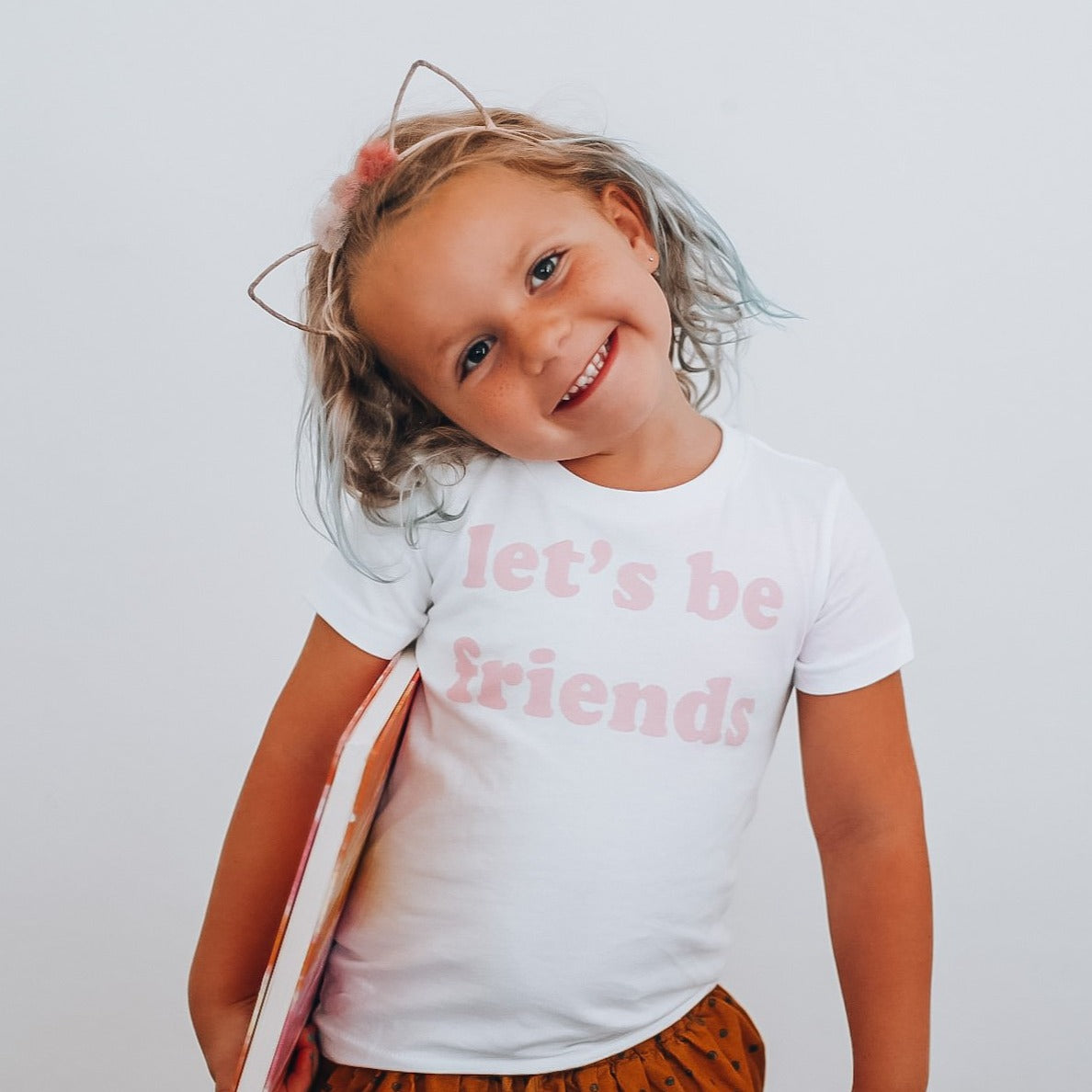 LET'S BE FRIENDS -  Toddler & Youth  T-Shirt ( PINK DESIGN )