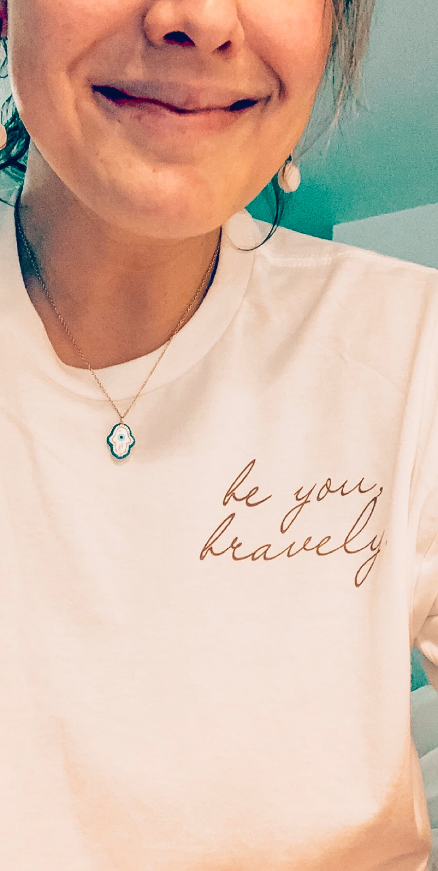 BE YOU, BRAVELY - Adult Unisex Crewneck Tee