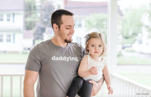 DADDYING  - Adult Unisex Crewneck Tee * READY TO SHIP *