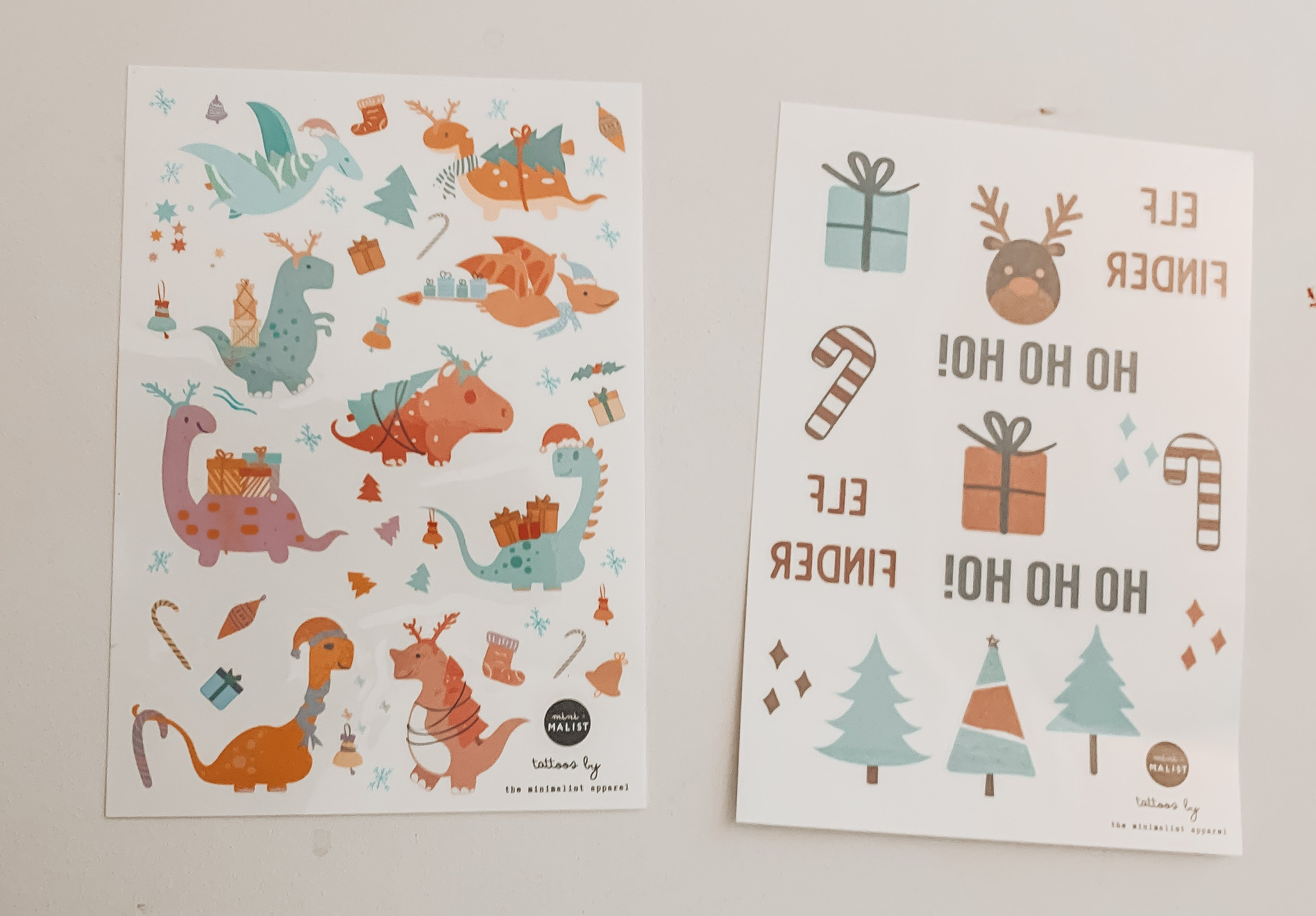 CHRISTMAS TEMPORARY TATTOOS