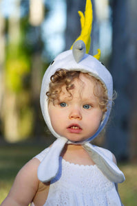cockatoo toddler bonnet